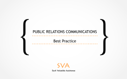 PUBLIC RELATIONS COMMUNICATION BEST PRACTISE
