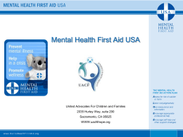 12 – Mental Health First Aid