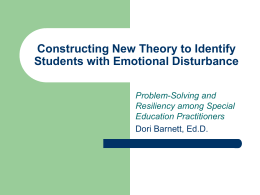 Constructing New Theory to Identify Students with Emotional