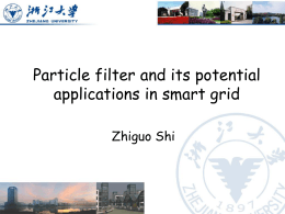 Particle Filter and its Potential Applications in Smart Grid