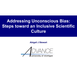 Addressing Unconscious Bias - American Astronomical Society