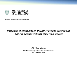 The influences of spirituality on well-being and health