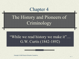 """while we read history we make it""… G.W. Curtis"