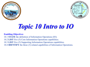 Topic 10 Intro to IO inst ppt 14 Jul 08