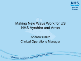 NHS A&A Making New Ways Work For Us