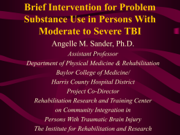 Brief Intervention for Problem Substance Use