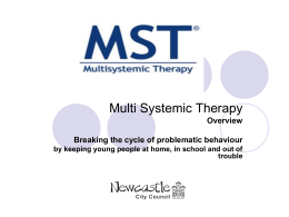 Multi Systemic Therapy