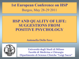 Second European Conference on Positive Psychology - Euro-HSP