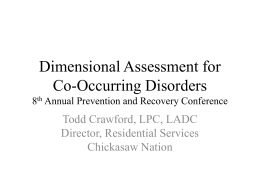 Dimensional Assessment for Co