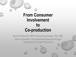 From Consumer Involvement to Co-production
