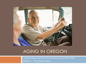 Long term care refers to provision of a range of services to