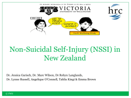 Non-suicidal Self-Injury in New Zealand