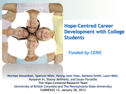 Hope-Centered Career Development with College Students