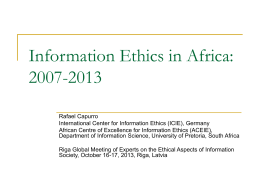 Information Ethics in Africa