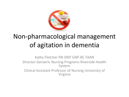 Non-pharmacological management of agitation in