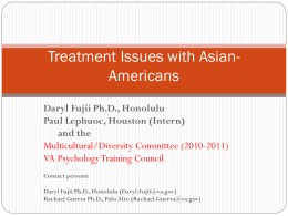 Treatment Issues and Asians - APPIC Shared Training Documents