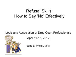 Skills to Avoid a Relapse: