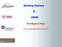 Working Memory in Patients with ADHD