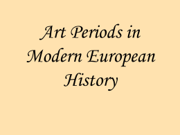 Art Periods in Modern European History