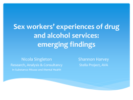New findings on women with substance misuse problems