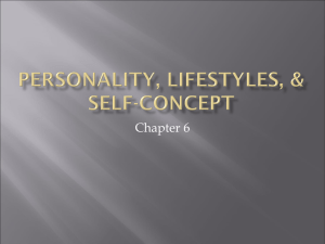 Personality, lifestyles, & self