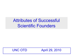 Attributes of Successful Scientific Founders