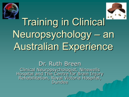 Training in neuro-psychology