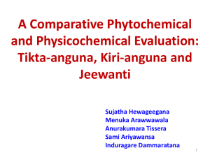A Comparative Phytochemical and Physicochemical Evaluation