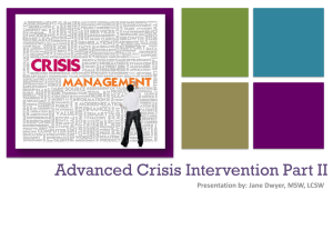 Advanced Crisis Intervention Part II
