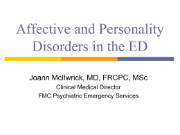Personality disorders - Calgary Emergency Medicine
