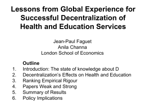 Lessons from global experience for successful