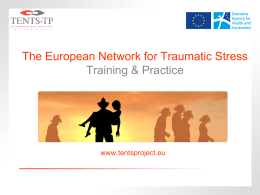 Dia 1 - European Society for Traumatic Stress Studies