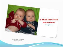 Postpartum depression: The Thief that Steals