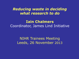 Why is Adding Value in Research important to the NIHR
