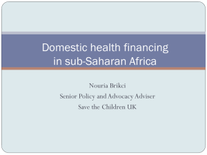 Domestic Health Financing in Sub-Saharan Africa