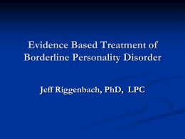 Click here for Dr. Jeff Riggenbach`s presentation of Evidence Based