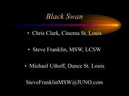 The Black Swan - Steve A. Franklin, MSW