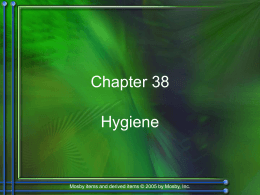Chapter 38: Hygiene