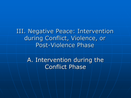 IIIA.Negative Peace - Society for the Study of Peace, Conflict