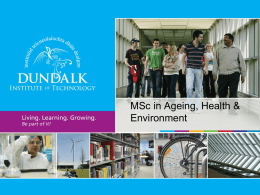 Myles Hackett MSc Ageing Health & Envoirnment: Innovative
