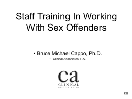 sex offender staff training mentally handicapped offenders handout