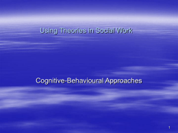 Using Theories in Social Work
