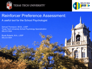 Handout 1 - Texas Association of School Psychologists