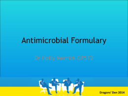 Antimicrobial App Presentation