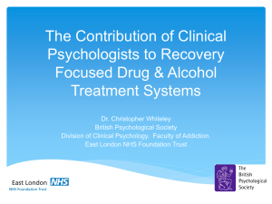 The Contribution of Clinical Psychologists to