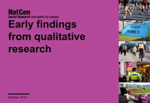 Early findings from qualitative research