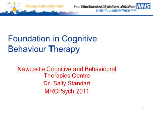 CBT Foundation course MRCPsych