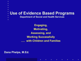 Evidence Based Practice - Muskie School of Public Service