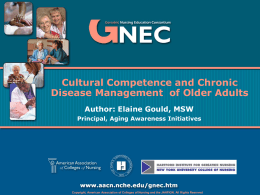 GNEC - Cultural Competence - Hartford Institute for Geriatric Nursing