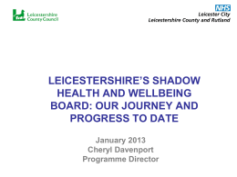 January 2013 - Leicestershire County Council